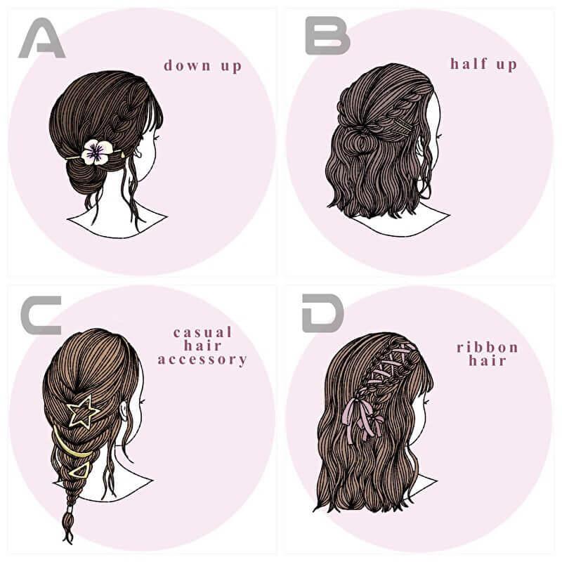 選択肢 髪型