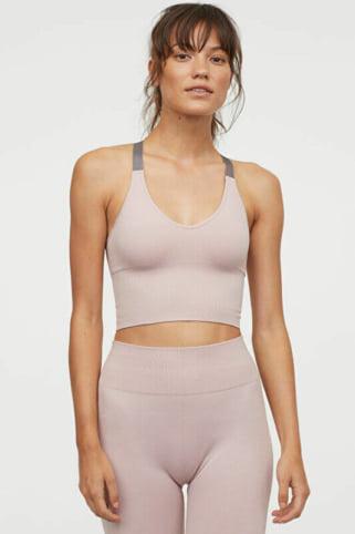 H&Mのジムコーデ シームレススポーツブラレット