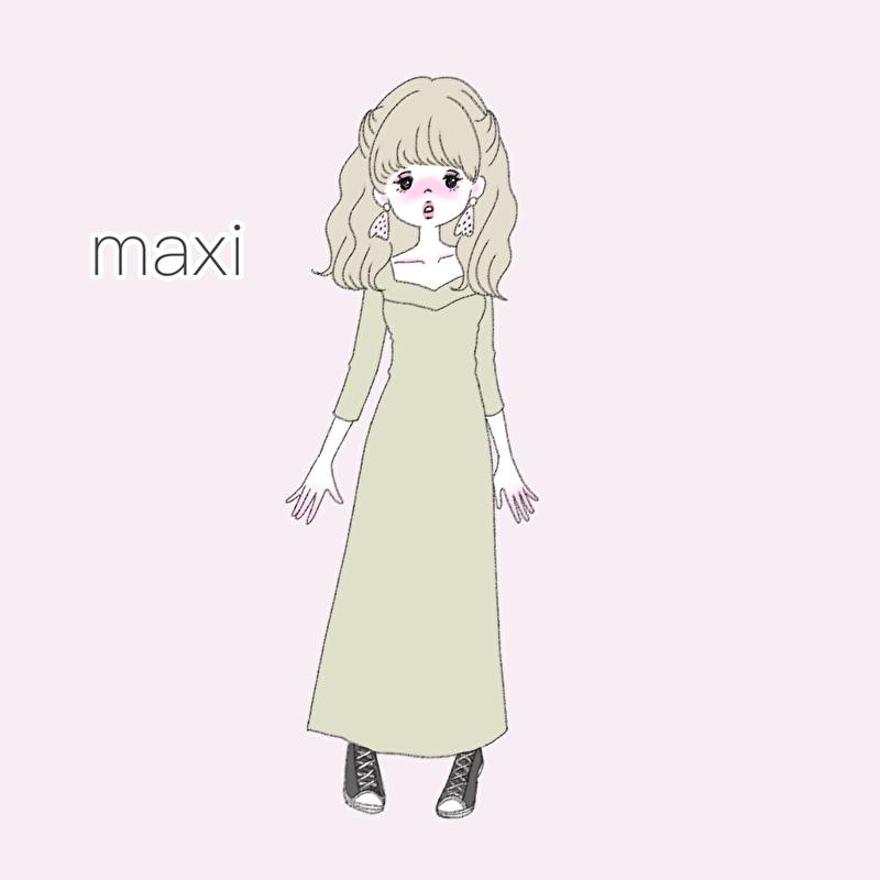 マキシワンピ