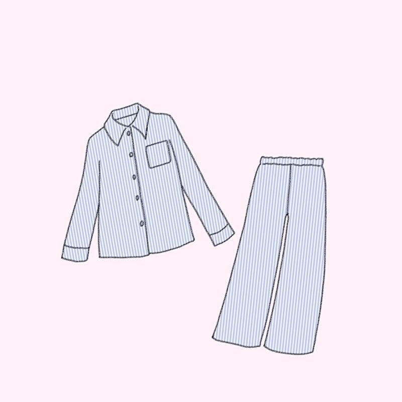 借りたパジャマ