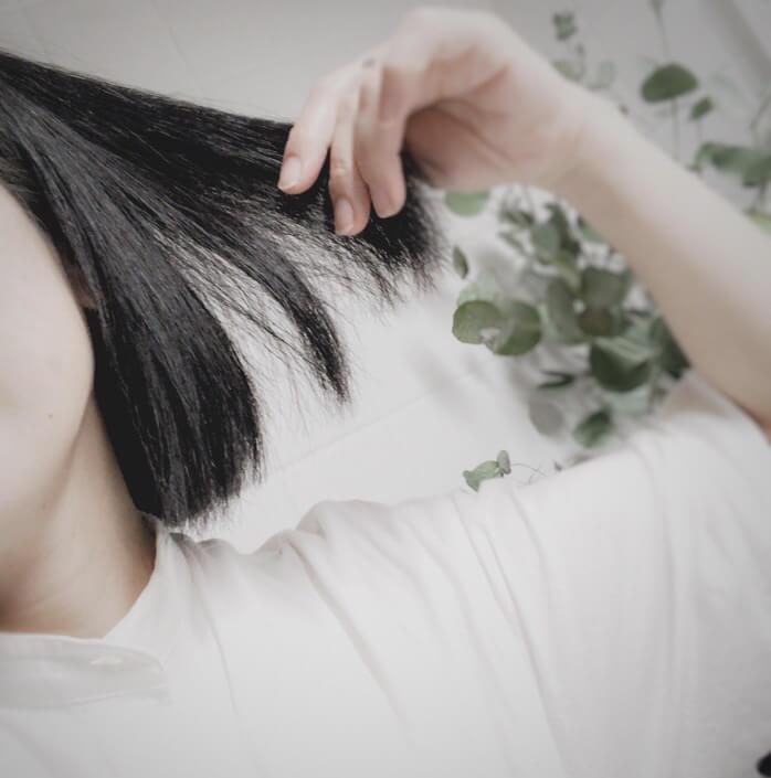黒髪メイク