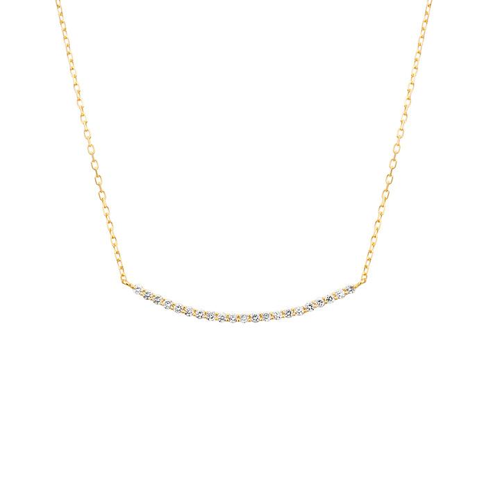 ダイヤモンドカーブラインネックレス