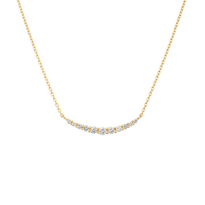 4月誕生石ダイヤモンドのネックレス