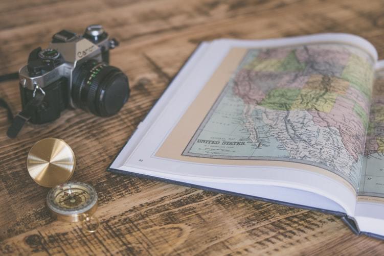 地図 方位磁針