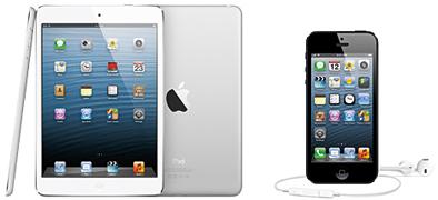 タブレット端末、スマートフォンで1位を獲得したアップルの「iPad mini」と「iPhone 5」