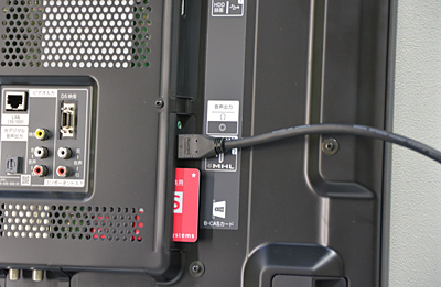テレビとHDMIケーブル1本で接続する