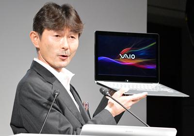 「VAIO Fit 13A」を紹介する赤羽良介本部長