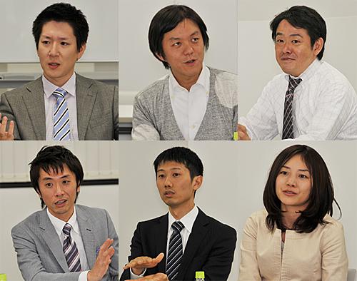 座談会には5社6人の担当者が参加
