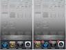 ホームボタンを2回連続で押して切り替えたいアプリをタップする(左)、履歴からアプリを外すには、ホームボタンと同じく長押しして、一時停止マークをタップすればいい(右)