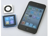 第4世代のiPod shuffle(左上)、第6世代のiPod nano、第4世代のiPod touch(右)