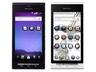 REGZA Phone IS04(左からブラック、ホワイト)