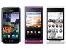 左から、GALAXY S SC-02B(メタリックブラック)、REGZA Phone T-01C(Mellow Bordeaux)、REGZA Phone IS04(ホワイト)