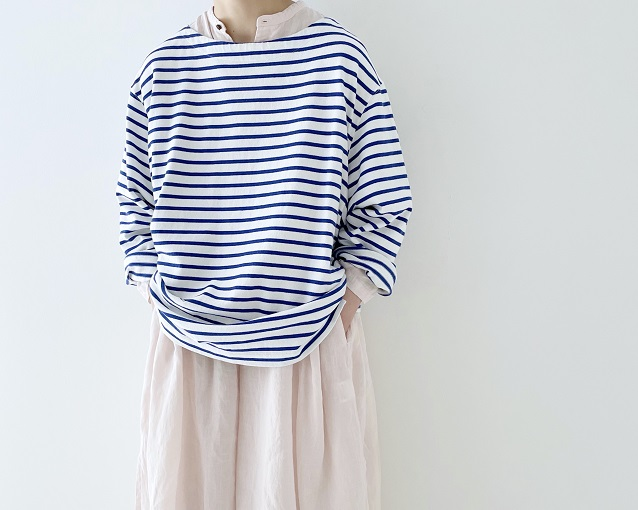 【 mix and match 】LINEN WIDE PULLOVER ONEPIECE