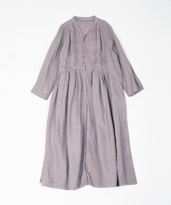 リネンYネックドレス limited color