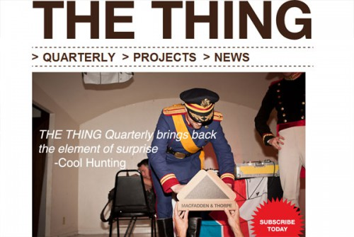 the-thing-quaterlyのサブスクリプションサイト