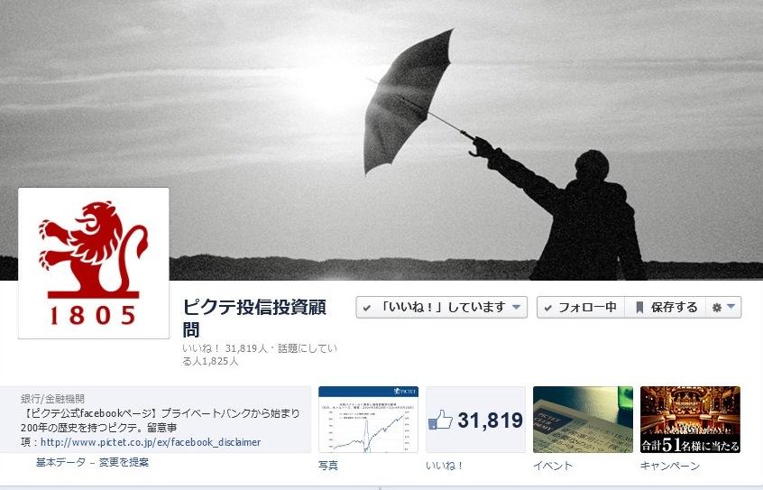 ピクテ投信投資顧問Facebook 事例01