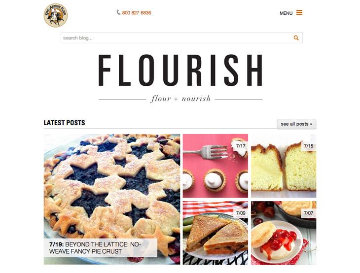 コンテンツマーケティング,ソーシャルメディア,ブログ,キング・アーサー, キングアーサー, King Arthur Flour, Flourish