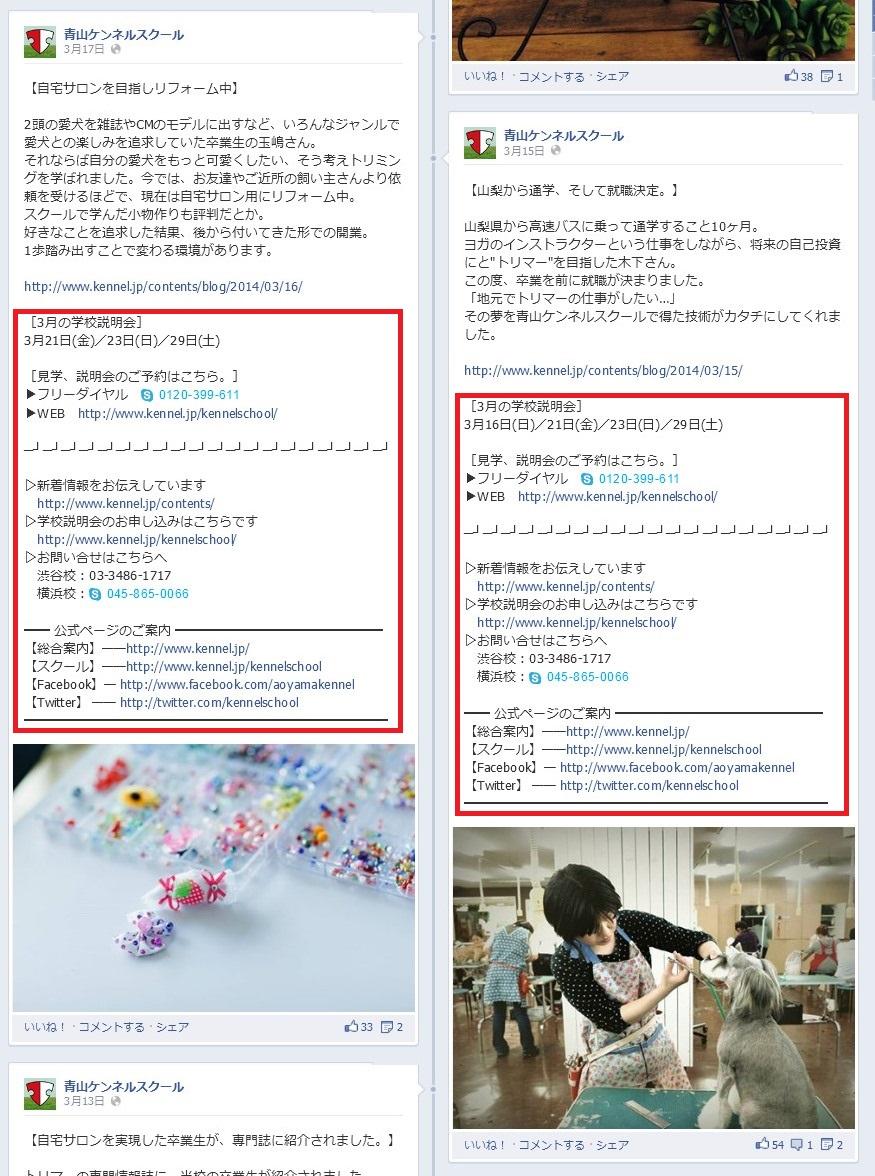 青山ケンネルスクール Facebook事例006
