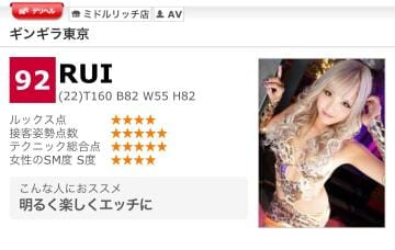 RUI「高得点ありがと」04/27(金) 05:59 | RUIの写メ・風俗動画