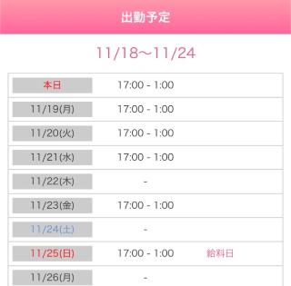 さいか「出勤予定」11/18(日) 11:04   さいかの写メ・風俗動画