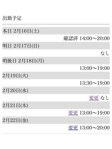「来週の出勤予定です」02/17日(日) 02:30 | Mizukiの写メ・風俗動画