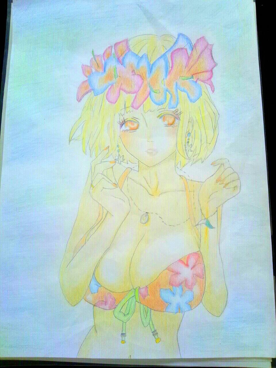 「元気いっぱいな真夏の海の女の子を描いてみました☆」07/24(月) 16:37 | ゆうなの写メ・風俗動画