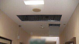天井埋込カセット2方向吹き出し 撤去