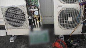 室外機設置 耐圧試験.1