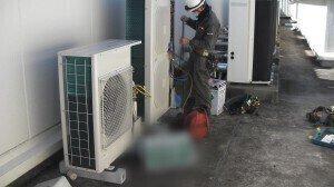 室外機設置 耐圧試験.2