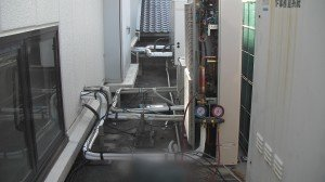 室外機設置 耐圧試験.3