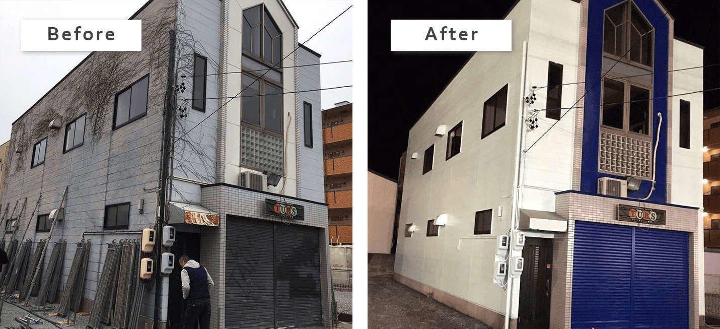 店舗の外壁塗装 静岡県浜松市南区