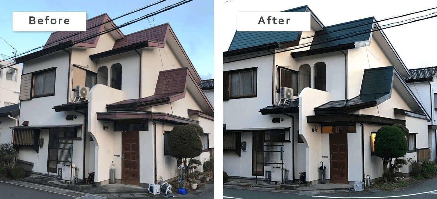 戸建ての外壁塗装 静岡県浜松市中区