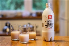 Makgeolli Bottle and Glasses