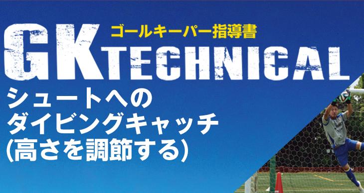 GK TECHNICAL<br>シュートへのダイビングキャッチ(高さを調節する)