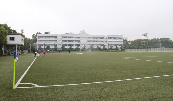 蹴球部のグラウンドは千葉県印西市のさくらキャンパスにある