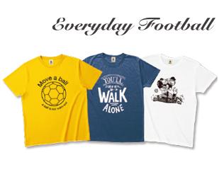 「EVERYDAY FOOTBALL」デザインTシャツ
