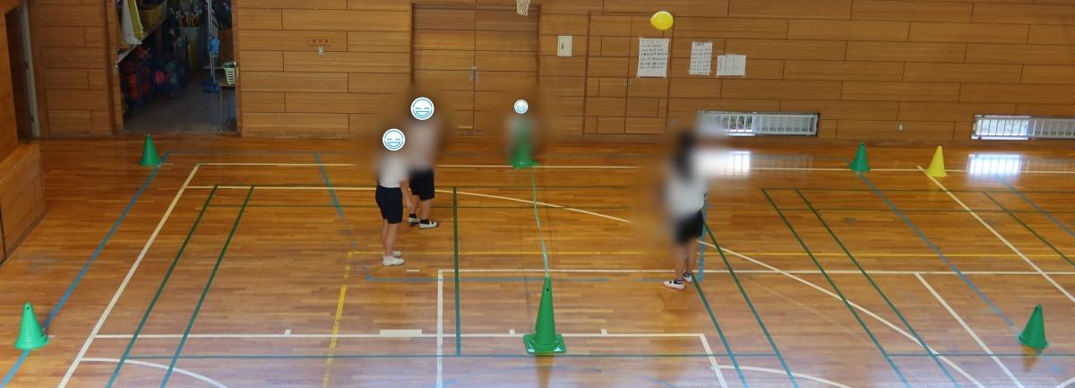 全員を大切に、全員参加の授業(体育 風船サッカーテニス)