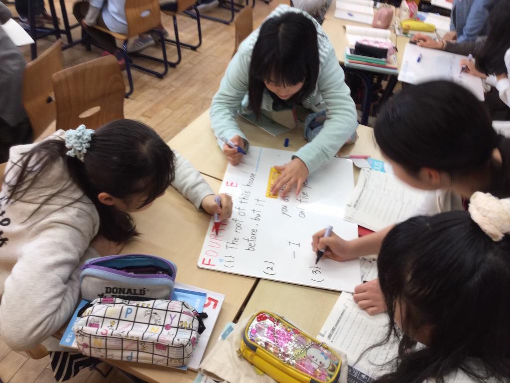 同志社中学校英語の授業風景