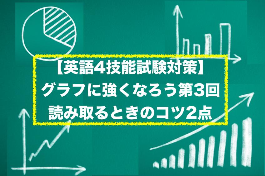 【英語4技能試験対策】グラフに強くなろう第3回:読み取るときのコツ2点