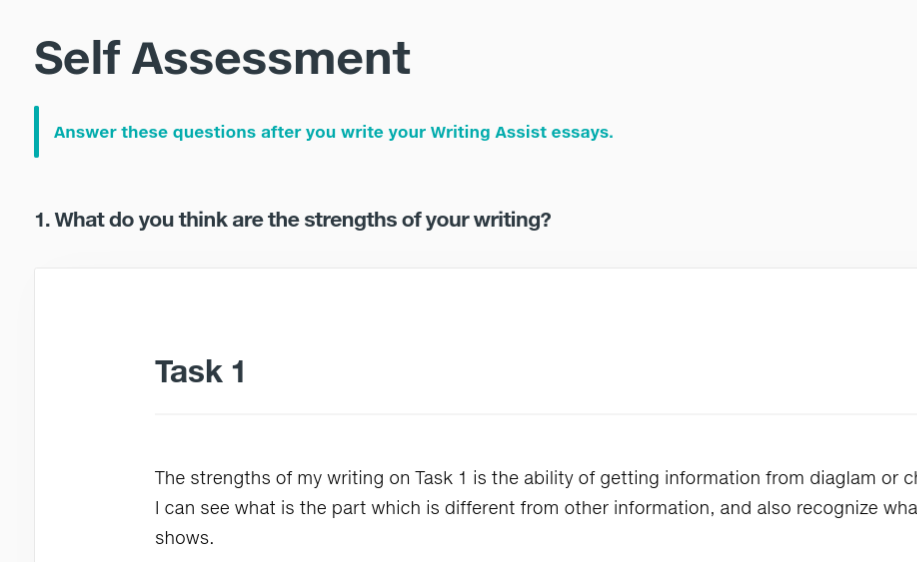 Self Assesment 例