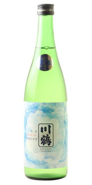川鶴 青ラベル 純米 無濾過生原酒 限定直汲み 30BY