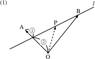 直線のベクトル方程式~その2~の図その1
