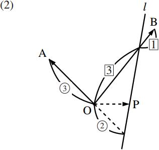 直線のベクトル方程式~その2~の図その2