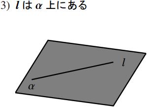 直線と平面の位置関係の図その3
