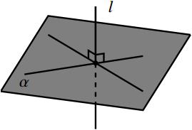 直線と平面の位置関係の図その4
