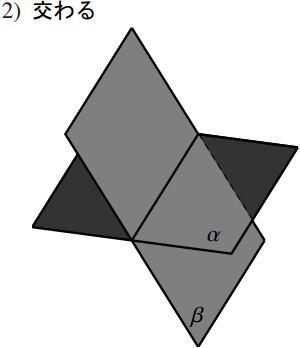 2 平面の位置関係の図その2