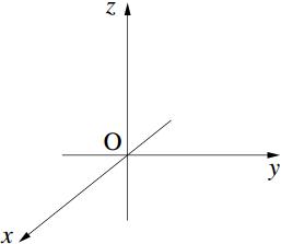 空間での座標の表し方の図その1