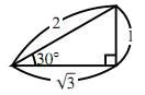 $30^\circ$ の直角三角形
