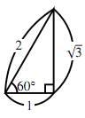 $60^\circ$ の直角三角形