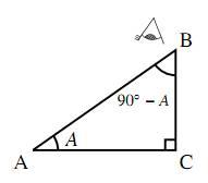 $90^\circ-A$ の三角比